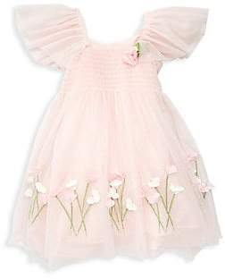 6b8184ee910d3 Kate Mack Little Girl's Tulle Flower Trapeze Dress