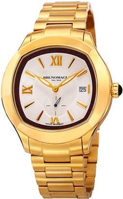 Bruno Magli Men's 42mm Amadeo Watch w/ Golden Bracelet Strap