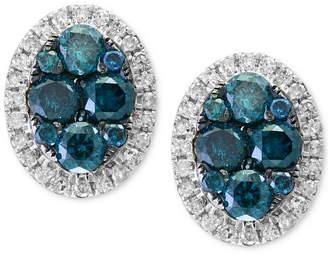 Effy Diamond Halo Stud Earrings (1 ct. t.w.) in 14k White Gold