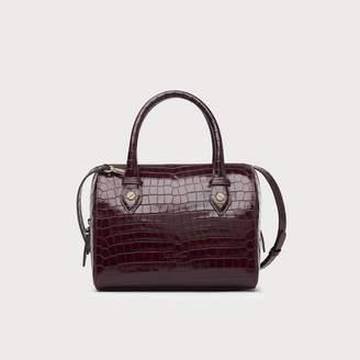LK Bennett Melanie Wine Croc Effect Shoulder Bag