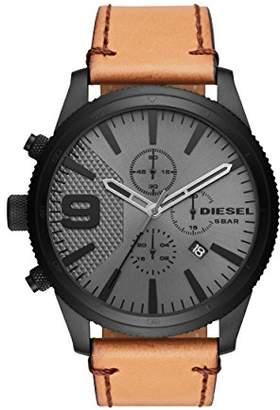 Diesel Men's Chronograph Quartz Watch with Leather Strap DZ4468