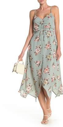Rowa ROW A Floral Cinch Front Maxi Dress