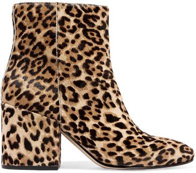 Sam Edelman - Taye Leopard-print Calf Hair Ankle Boots - Leopard print