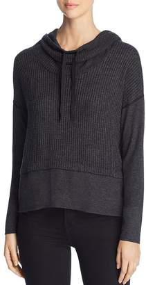 Three Dots Thermal Cowl-Neck Top