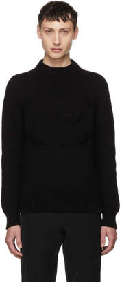 Prada Black Knitted Logo Crewneck Sweater