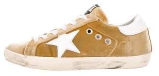 Golden Goose Velvet Superstar Sneakers