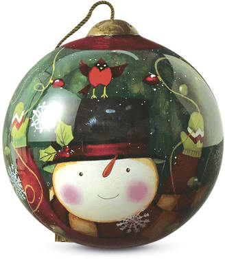 """Precious Moments Deck the Halls"""" Petite Round Shaped Glass Ornament by Susan Winget"""