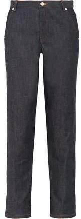 Dimitri Mid-Rise Straight-Leg Jeans