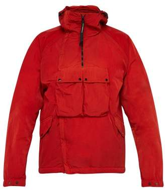 C.P. Company Goggle Hood Multi Pocket Jacket - Mens - Red