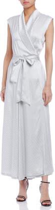 Maison Margiela (メゾン マルジェラ) - Maison Margiela サテンジャカード ノースリーブ ラップドレス ホワイト 36
