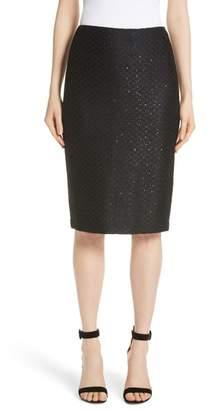 St. John Shimmer Sequin Knit Skirt