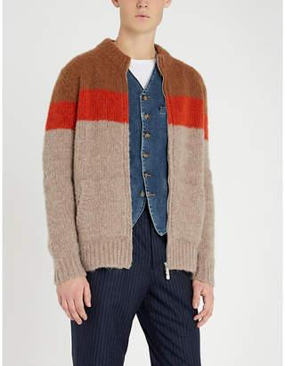 Eleventy Contrast denim and twill waistcoat