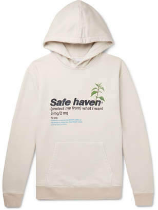 Off-White Resort Corps - Embroidered Printed Loopback Cotton-Jersey Hoodie - Men