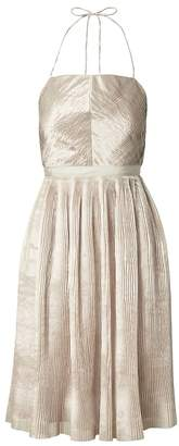 Banana Republic Heritage Pleated Halter Fit-and-Flare Dress