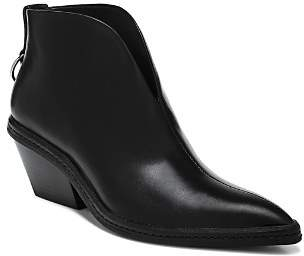 Via Spiga Women's Fianna Pointed Toe Leather Ankle Booties