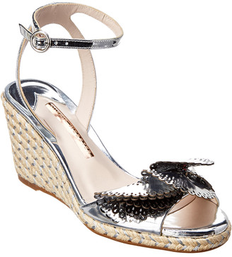 Sophia Webster Soleil Lucita Mirrored Espadrille Leather Wedge