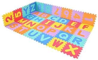 CASART Kids Alphabet Puzzle Play Mat Baby Soft EVA Foam Interlocking Jigsaw 36PCS(A-Z,0-9) Floor Tiles