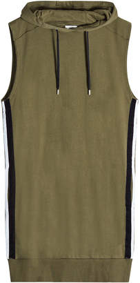 Public School Sleeveless Cotton Top with Drawstring Hood