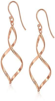 Gold Plated Sterling Silver Twist-Drop Earrings