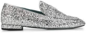 Chiara Ferragni slip-on glitter loafers