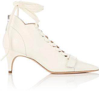 Derek Lam Women's Montparnasse Ankle-Tie Booties-WHITE $850 thestylecure.com