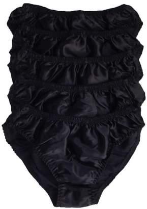 c2e6ec4d9e Qianya Men s Bikini Briefs 100% Pure Silk 5 Pairs in One Economic Pack (XXL