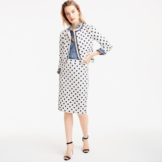 Pencil skirt in polka dot textured tweed $128 thestylecure.com