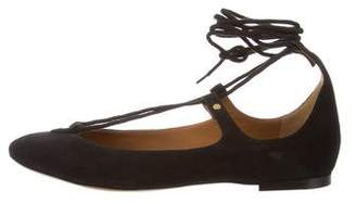Chloé Suede Round-Toe Flats