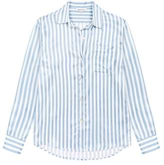 Radice Alexandra Silk Pyjama In Candy Blue Stripes - Top