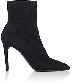 Barneys New York Women's Lula Metallic-Knit Ankle Boots - Black