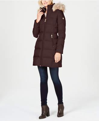 Calvin Klein Faux-Fur-Trim Puffer Coat