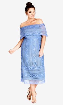 City Chic Cornflower Lady Lace Dress