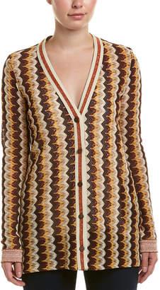 Anna Sui Zig Zag Stripe Knit Cardigan