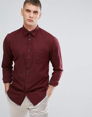 Selected Slim Shirt With Contrast Buttons