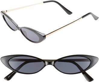 Leith Metal & Plastic Mini Cat Eye Sunglasses