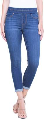 Liverpool Zoe Pull-On Rolled Cuff Crop Jeans