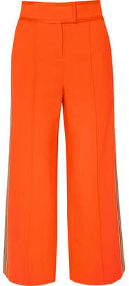 Diane von Furstenberg Striped Crepe Wide-leg Pants
