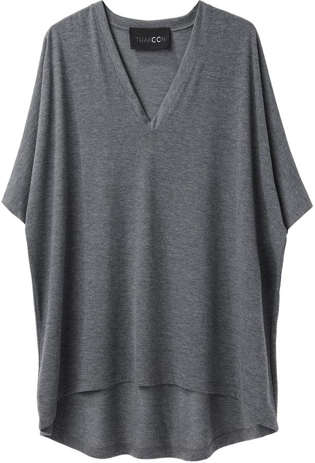 Thakoon Addition / V-Neck Volume T-Shirt
