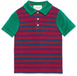 Children's striped terry polo $245 thestylecure.com