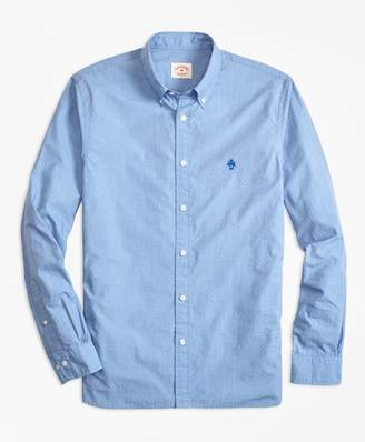 Brooks Brothers Dotted Broadcloth Sport Shirt