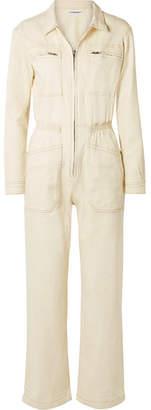 L.F.Markey - Danny Cotton-blend Drill Jumpsuit - Ivory