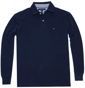Tommy Hilfiger Men Classic Long Sleeve Logo Polo T-Shirt (L, )