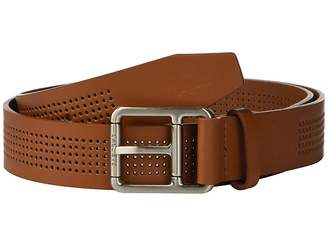 7501eda0d Lacoste Perforated Leather Belt w  Roller Buckle