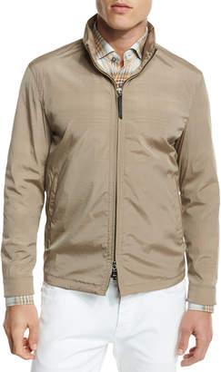 Ermenegildo Zegna Hooded Wind-Resistant Jacket, Sand