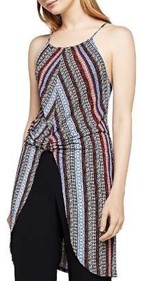 BCBGeneration Knot-Front Striped Tunic