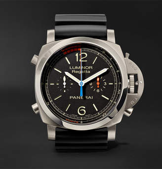 Panerai Officine Luminor 1950 Regatta 3 Days Chrono Flyback Automatic Titanio 47mm Titanium And Rubber Watch