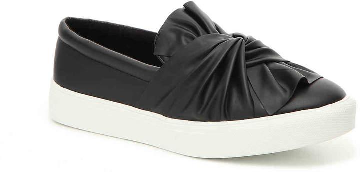 Women's Zoe Bow Slip-On Sneaker -Blush Faux Leather