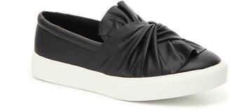 Women's Zoe Bow Slip-On Sneaker -Black Faux Leather $60 thestylecure.com