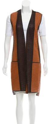 Reed Krakoff Leather Laser Cut Vest