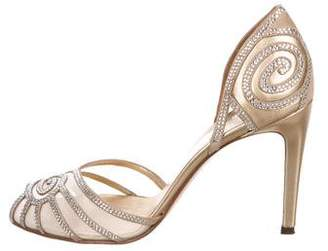 Valentino Embellished Metallic Sandals